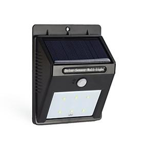 billige Soldrevne LED-lamper-6led solenergi pir bevægelsessensor væglampe udendørs vandtæt haven lampe