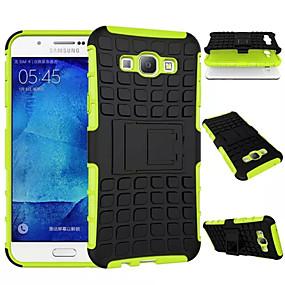 voordelige Galaxy A8 Hoesjes / covers-hoesje Voor Samsung Galaxy A8 / A7 / A5 Schokbestendig / met standaard Achterkant Schild PC