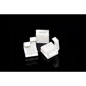 Недорогие Коннекторы-ZDM 5шт 5050 RGB 10 мм водонепроницаемые полосы лампы с разъемом без сварки быстрый зажим разъем для панели лампы