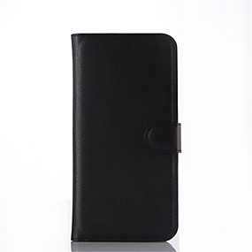 voordelige Galaxy A8 Hoesjes / covers-hoesje Voor Samsung Galaxy A8 / A7 / A5 Kaarthouder / met standaard / Flip Volledig hoesje Effen PU-nahka