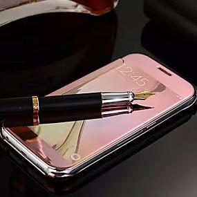 halpa Galaxy S -sarjan kotelot / kuoret-SHI CHENG DA Etui Käyttötarkoitus Samsung Galaxy Samsung Galaxy kotelo Peili / Flip Suojakuori Yhtenäinen PC varten S6 edge plus / S6 edge / S6