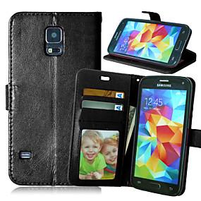 voordelige Galaxy S6 Edge Plus Hoesjes / covers-hoesje Voor Samsung Galaxy S6 edge plus / S6 edge / S6 Portemonnee / Kaarthouder / met standaard Volledig hoesje Effen PU-nahka