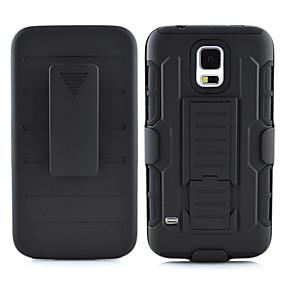 Недорогие Чехлы и кейсы для Galaxy S5 Mini-Кейс для Назначение SSamsung Galaxy S7 edge / S7 / S6 edge plus Защита от удара / со стендом Кейс на заднюю панель броня ПК