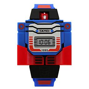 billige Klokker med tegneseriefigurer-Armbåndsur Digital Silikon Blå / Rød / Grå Kalender Digital damer Sjarm Mote - Gul Rød Blå To år Batteri Levetid / Maxell626 + 2025