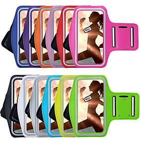 abordables Coques d'iPhone-Coque Pour iPhone 7 / iPhone 7 Plus / iPhone 6s Plus Avec Ouverture / Brassard Brassard Couleur Pleine Flexible Textile pour