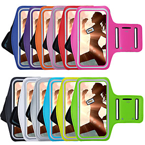levne iPhone pouzdra-Carcasă Pro iPhone 7 / iPhone 7 Plus / iPhone 6s Plus s okýnkem / Páska na rukáv Pásek na ruku Jednobarevné Měkké Textil pro