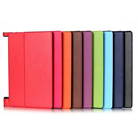 Χαμηλού Κόστους Αξεσουάρ για Tablet-tok Για Lenovo Πλήρης Θήκη / Θήκες για Tablets Μονόχρωμο Σκληρή PU δέρμα για