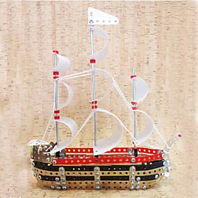 olcso Játékok & hobbi-3D építőjátékok Fából készült építőjátékok Fém építőjátékok Hajó Fém Fiú Lány Játékok Ajándék