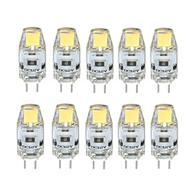 abordables Luces LED de Doble Pin-10pcs 1 W Luces LED de Doble Pin 100 lm G4 T 1 Cuentas LED COB Regulable Blanco Cálido Blanco Fresco 12 V / 10 piezas / Cañas