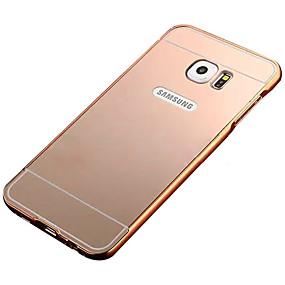 voordelige Galaxy S7 Hoesjes / covers-hoesje Voor Samsung Galaxy S7 edge / S7 / S6 edge Beplating / Spiegel Achterkant Effen PC