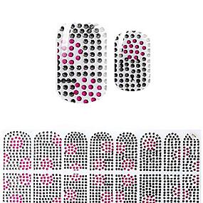 cheap Makeup & Nail Care-Lovely Black Korea DIY Diamond 3D Nail Stickers