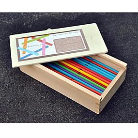 olcso Játékok & hobbi-Puzzle Játék Ajándék Építőkockák Építő játékok Fa Sárga Játékok