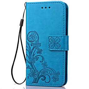 voordelige Galaxy J1 Hoesjes / covers-hoesje Voor Samsung Galaxy J7 (2016) / J5 (2016) / J3 Portemonnee / Kaarthouder / met standaard Volledig hoesje Bloem Zacht PU-nahka