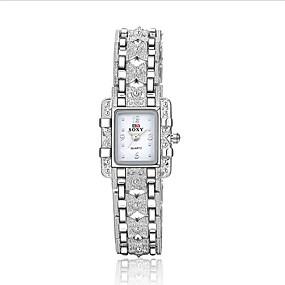 preiswerte Schmuck & Uhren-Damen Uhr Armbanduhr Quartz Legierung Silber 30 m Wasserdicht Analog Charme Modisch Weiß Schwarz / Ein Jahr / Ein Jahr / SODA AG4