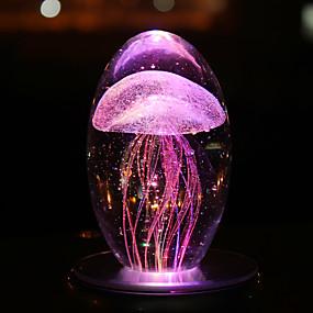 ieftine Lumini Nocturne LED-lumina de noapte lampă de masă colorat meduze noapte lumina romane cristal meșteșuguri a condus lampa de noapte lumina atmosfera lumina veselă