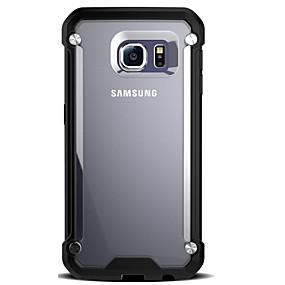 voordelige Galaxy S7 Edge Hoesjes / covers-hoesje Voor Samsung Galaxy S7 edge / S7 / S6 edge Schokbestendig / Transparant Achterkant Schild Hard PC