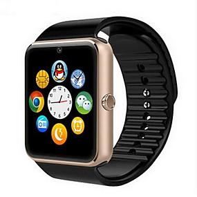 billige Smart Watches-Herre Smartur Digital Gummi Sort Touch-skærm Alarm Kalender Digital Luksus - Guld Sort Sølv / Fjernbetjening / Skridttællere / Træningsmålere / Stopur