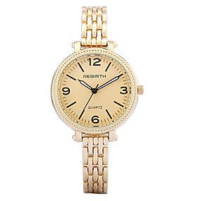 voordelige Merk Horloge-REBIRTH Dames Luxueuze horloges Armbandhorloge Polshorloge Kwarts Zilver / Goud Hot Sale / Analoog Dames Informeel Modieus Elegant - Zwart / Zilver Wit / Goud Wit / Zilver Twee jaar Levensduur