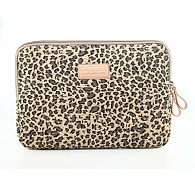 cheap Laptop Gadgets-Classic Leopard Laptop Sleeve Notebook Bag Laptop Case Cover Liner Bag Shockproof 15.6 inch