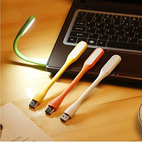 olcso LED okos izzók-1db véletlenszerű színes rugalmas vezetett USB fény ultra fényes hordozható mini usb led lámpa laptop notebook számítógép