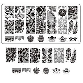 cheap Makeup & Nail Care-lace-printing-nail-art-stamping-decor-diy-manicure-stamping-plates-for-nails-templates-salon-tools-bc03