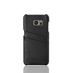 voordelige Galaxy S7 Edge Hoesjes / covers-hoesje Voor Samsung Galaxy S7 edge / S7 Kaarthouder Achterkant Effen Hard aitoa nahkaa