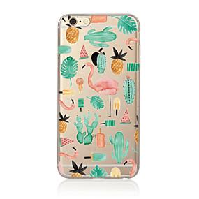 저렴한 아이폰 케이스-케이스 제품 Apple iPhone X / iPhone 8 Plus / iPhone 7 반투명 / 패턴 뒷면 커버 플라밍고 소프트 TPU 용 iPhone X / iPhone 8 Plus / iPhone 8