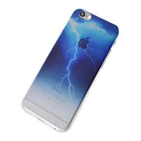 abordables Coques d'iPhone-Coque Pour Apple iPhone 7 / iPhone 6 / Coque iPhone 5 Translucide Coque Ciel / Paysage Flexible TPU pour iPhone 7 Plus / iPhone 7 / iPhone 6s Plus