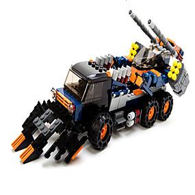 olcso Játékok & hobbi-GUDI Zenés akciófigura Építőkockák Építési készlet játékok Tank Gép Robot összeegyeztethető Legoing Fiú Lány Játékok Ajándék / Fejlesztő játék