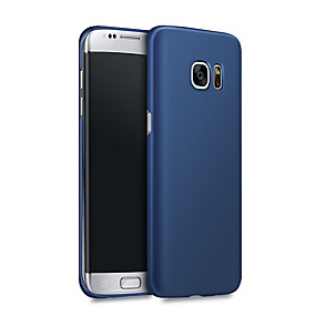 cheap Galaxy S Series Cases / Covers-Case For Samsung Galaxy S8 Plus / S8 / S7 edge Shockproof / Ultra-thin Back Cover Solid Colored Hard PC for S8 Plus / S8 / S7 edge