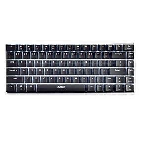 Χαμηλού Κόστους Ποντίκια και πληκτρολόγια-AJAZZ Geek AK33 USB Ενσύρματο μηχανικό πληκτρολόγιο πληκτρολόγιο Gaming MINI Φωτίζει Λευκό φωτισμός 82 pcs Κλειδιά