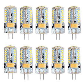 abordables Luces LED de Doble Pin-10pcs 3 W 250-300 lm G4 Luces LED de Doble Pin T 57 Cuentas LED SMD 3014 Blanco Cálido / Blanco Fresco 12 V / 10 piezas / Cañas