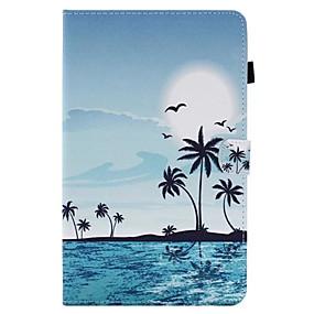 voordelige Galaxy Tab A 9.7 Hoesjes / covers-hoesje Voor Samsung Galaxy / Tabblad Een 8.0 / Tabblad Een 9.7 Tab E 9.6 / Tab E 8.0 / Tab A 10.1 (2016) Kaarthouder / met standaard / Flip Volledig hoesje Landschap Hard PU-nahka