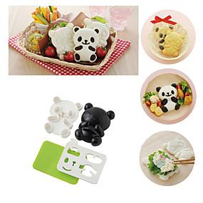ieftine Ustensile Bucătărie & Gadget-uri-4in1 baby panda mucegai orez onigiri prăjită alge marine cutter instrumente de bucătărie
