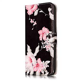 Недорогие Кейсы для iPhone 5S/SE-Кейс для Назначение Apple iPhone X / iPhone 8 Кошелек / Бумажник для карт / со стендом Чехол Цветы Твердый Кожа PU для iPhone X / iPhone 8 Pluss / iPhone 8