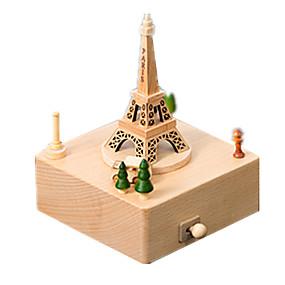 olcso Játékok & hobbi-Zenedoboz Modeli i makete Wood Model Körhinta Merry Go Round Cuki Fa Gyermek Felnőttek Uniszex Fiú Lány Játékok Ajándék