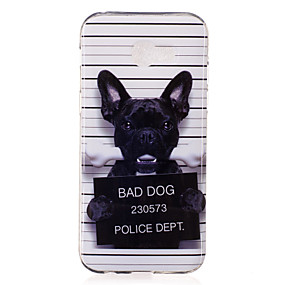 voordelige Galaxy A3(2016) Hoesjes / covers-hoesje Voor Samsung Galaxy A3 (2017) / A5 (2017) / A7 (2017) IMD / Patroon Achterkant Hond Zacht TPU