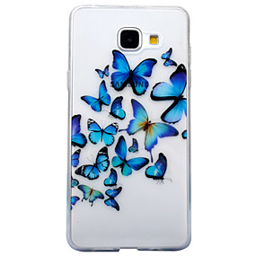 voordelige Galaxy A3(2016) Hoesjes / covers-hoesje Voor Samsung Galaxy A3 (2017) / A5 (2017) / A5(2016) IMD / Transparant / Patroon Achterkant Vlinder / dier Zacht TPU