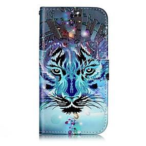 voordelige Galaxy J3(2017) Hoesjes / covers-hoesje Voor Samsung Galaxy J3 (2017) / J3 (2016) / J3 Portemonnee / Kaarthouder / met standaard Volledig hoesje dier Hard PU-nahka