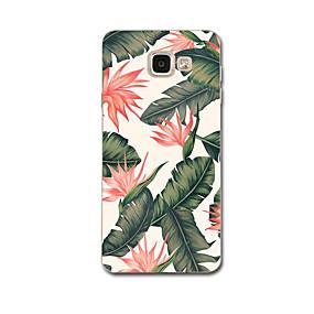 voordelige Galaxy A8 Hoesjes / covers-hoesje Voor Samsung Galaxy A3 (2017) / A7 (2017) / A5(2016) Ultradun / Patroon Achterkant Bloem Zacht TPU