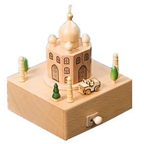 olcso Játékok & hobbi-Zenedoboz Modeli i makete Wood Model Taj Mahal Fa Gyermek Felnőttek Uniszex Fiú Lány Játékok Ajándék
