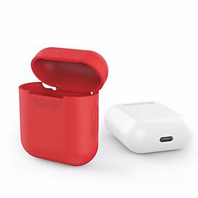 billige PC- og tablettilbehør-Til Apple Airpods Airpods Silikone gennemsigtige cover beskyttelsescover pose anti tabt protector elegant ærme