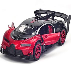 رخيصةأون ألعاب السيارات-لعبة سيارات سيارة سباق الموسيقى والضوء للجنسين ألعاب هدية / معدن