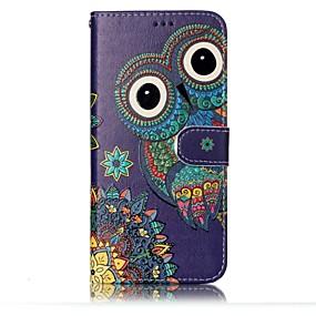 voordelige Galaxy S7 Edge Hoesjes / covers-hoesje Voor Samsung Galaxy S8 Plus / S8 / S7 edge Portemonnee / Kaarthouder / met standaard Volledig hoesje Uil Hard PU-nahka