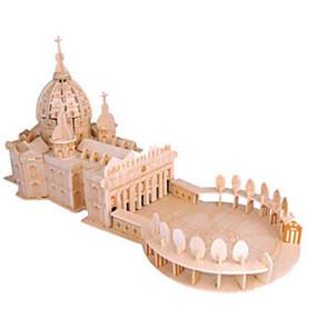 ieftine Jucării & Hobby-uri-Puzzle 3D Puzzle Puzzle Lemn Biserică Catedrală Reparații Lemn natural Clasic Pentru copii Unisex Jucarii Cadou