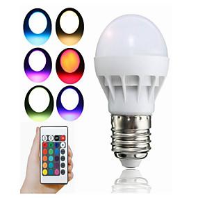 levne LED Smart žárovky-1ks 3 W LED chytré žárovky 100 lm E26 / E27 1 LED korálky Integrovaná LED Dálkové ovládání Ozdobné Zářící barvy R GB 85-265 V / 1 ks / RoHs
