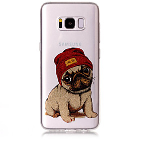 voordelige Galaxy S7 Hoesjes / covers-hoesje Voor Samsung Galaxy S8 Plus / S8 / S7 edge IMD / Patroon Achterkant Hond / Glitterglans Zacht TPU