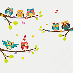 povoljno Ukrasne naljepnice-Životinje Moda Botanički Zid Naljepnice Zidne naljepnice Dekorativne zidne naljepnice Visina Naljepnice, plastika Početna Dekoracija Zid