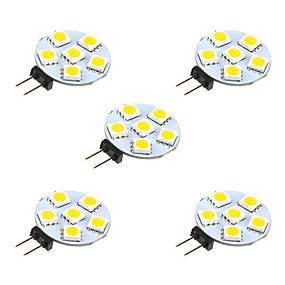 abordables Luces LED de Doble Pin-5pcs 1 W Luces LED de Doble Pin 68 lm G4 6 Cuentas LED SMD 5050 Blanco Cálido Blanco 12 V / 5 piezas