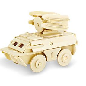 olcso Játékok & hobbi-3D építőjátékok Fejtörő Wood Model Dinoszaurus Tank Repülőgép DIY Fa Klasszikus Uniszex Játékok Ajándék